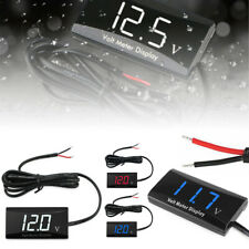 12V Digital LED Display Voltmeter Voltage Gauge Car Motorcycle Panel Meter
