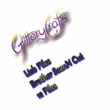 Scan n Cut USB cutting files by Glitterycrafts #2 ***12 files