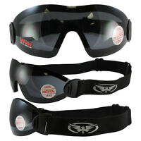 FLARE WING SKYDIVE SKYDIVING GOGGLES PARAGLIDING SMOKE INCLUDES STORAGE POUCH
