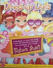 Dress up dolls Fashion Show 160 pieces fold-out runway Brand New Hinkler Books