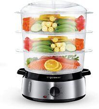 Electric Food Steamer 3 niveau 800 W 9 L Légumes Riz Vapeur cuisinière en acier ...