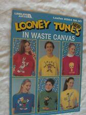 LOONEY TUNES WASTE CLOTH Shirts + CROSS STITCH PATTERN CHART Bugs Daffy Tweety