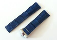 22mm NAVY-BLUE Monaco Band Strap with Deployment Clasp for Tag Heuer