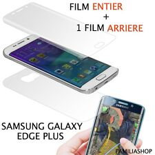 Film protection entier total pour Samsung Galaxy S6 Edge PLUS + 1 film arrière