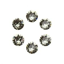 Swarovski 1088 Crystal Chatons Black Diamond Foil Back 6mm SS29 Pack of 6 E96/8