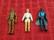 Kenner1977 Star Wars Luke Skywalker Farm Boy + Chewbacca + Lando Calrissian 1980