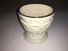Lenox Ivory China Candle Holder Cup 3�X3� Hobnail Gold Trim