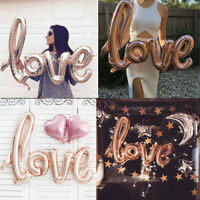 LOVE Shape Foil Balloon Birthday Wedding Party Anniversary Decor Helium Balloon