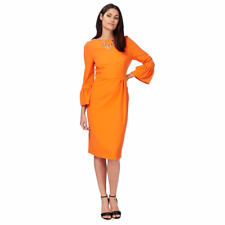 Principles by Ben de Lisi Orange Pencil Dress Size UK 16 rrp £75 LF171 GG 13