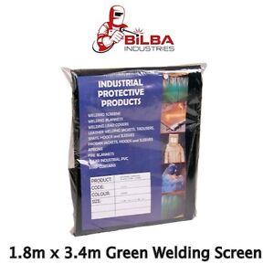 Green Welding Curtain/ Screen 1.8m x 3.4m