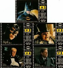 Batman Returns Full 20 Sticker Card Chase Set from Dynamic Marketing