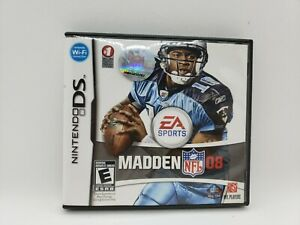 Madden NFL 08 (Nintendo DS, 2007) CIB Complete with Manual TESTED
