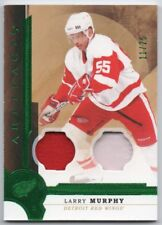 2016-17 Artifacts Materials Emerald 133 Larry Murphy GU 11/25 Detroit Red Wings