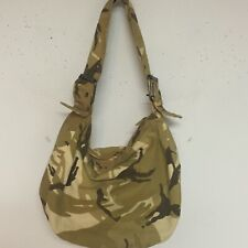 Machine Embroidered Fancy Beaded CAMO Print Shoulder Bag PURSE BROWNS Tans