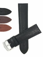 Bandini Watch Band, Leather Strap, Buffalo Pattern, 18mm 20mm, 22mm, 24mm