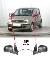 FOR FIAT PANDA 2009 - 2012 NEW WING MIRROR MANUAL BLACK PAIR SET LHD