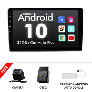 """OBD+CAM+CarPlay+Single 1 Din 10.1"""" Stereo Car Radio Android 10 Touch Screen GPS"""
