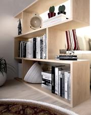 ATHENA Living Room 3 Tier Bookcase Room Divider Display Shelf Unit in Oak