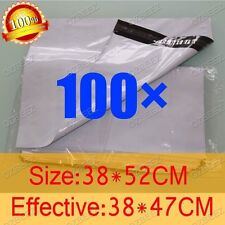 100 380 x 520mm Poly Courier Plastic Bag Mailer Mailing Satchel self seal