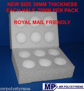 45 POLYSTYRENE EGG BOXES HATCHING / INCUBATION MEDIUM NEW SIZE ROYAL MAIL 78MM