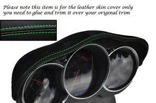 GREEN STITCH FITS MAZDA RX8 03-12 SPEEDO GAUGE HOOD PU SUEDE SKIN COVER ONLY