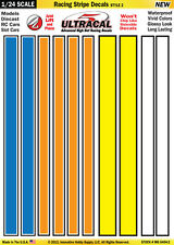 Mg6404-2 1/24 High Def UltraCal Decals Racing Stripe Decals Style 2