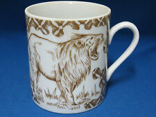 Lion Lioness Wild Habitat Coffee Mug Cup Shafford Japan Animals Porcelain New