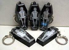3 Skeleton in Coffin Keychain Charm Vending Machine Toy