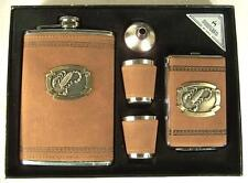SCORPION FLASK GIFT SET W CIGARETTE CASE funnel DRINKING HIP SHOT GLASS NEW