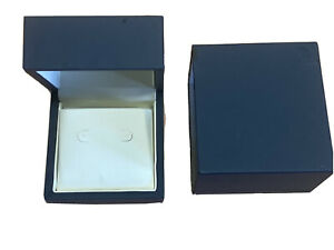 Navy Blue Soft Touch Dubai Range leather Gift Box Earring Box Free Postage Gift