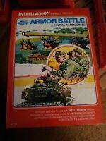 Intellivision Armor Battle video game 1979