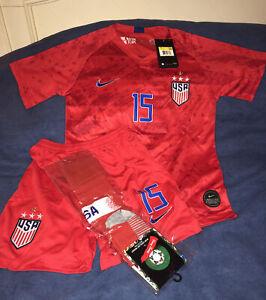 USA Nike AeroSwift-Rapinoe #15 Youth Size 26 Away Jersey/Shorts/Socks NWT