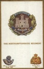 UK British Military Badge Crest Series Postcard NORTHAMPTONSHIRE REGIMENT
