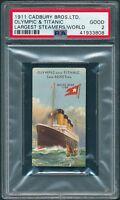"1911 Cadbury  TITANIC ""Olympic & Titanic"" PSA 2 (Trimmed) 1st Titanic card [BBE]"