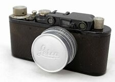 Leitz Leica II d black, vintage 35mm camera, lens Elmar 2,8/50mm, pre war 1932