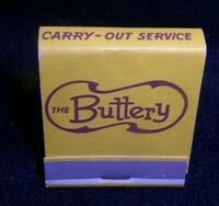 The Buttery restaurant Featuring Butter-Burger Operated by White Tower matchbook