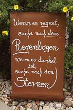 Edelrost Tafel Regenbogen Wandtafel Schild Handarbeit Spruch Gedichttafel Deko