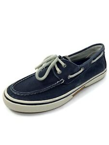 Sperry Top Sider Halyard Mens Navy Canvas Two Eye Boat Shoes Size 9.5M