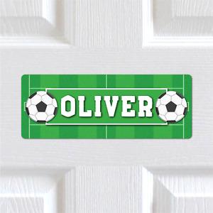 Personalised Name METAL Football Pitch Bedroom Door Sign Plaque Boys Girls Kids