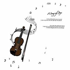 Fashion Violin and Musical Notes Wall Decals, Living Room Bedroom Removable T6U3