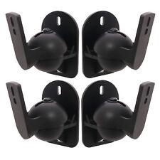 4 Speaker brackets  Universal  Surround sound - Set of 4 black brackets