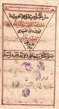 RARE ARABIC GRAMMAR MANUSCRIPT MATNO AL AGROUMIYAH 1258 AH (1842 AD):