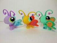 Littlest Pet Shop LPS Butterflies Butterfly Lot of Three