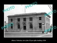 OLD LARGE HISTORIC PHOTO OF ALLIANCE NEBRASKA US POST OFFICE BUILDING c1920