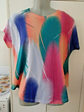 A LADIES SUMMER  TOP= FE SDIE  BRAND --SIZE X X  L - ==BRAND NEW =  NO TAGS