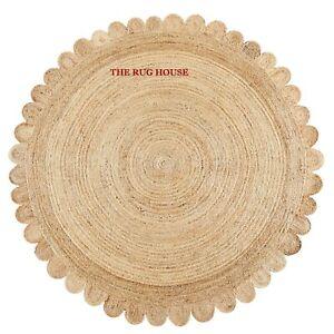 Rug 100% Natural Braided Jute handmade carpet reversible area rug outdoor rugs
