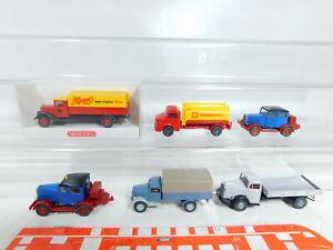 BX391-0, 5 #6x wiking 1:87/H0 Truck: Hanomag+MB Shell / Ho + Opel, Mint + 1x Box