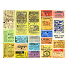 Bus Tickets, Train Ticket Stubs, Railroad Papers, 2 Reproduction Sticker Sheets