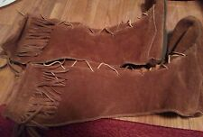 1990's Suede knee high moccasins women's size 8 Rust colored beautiful condition