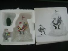 """Dept 56 Heritage Village """"I'll Need More Toys """" Santa in Ice Chair with Elf"""